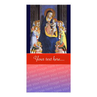 VIRGIN WITH CHILD AND SAINTS PERSONALIZED PHOTO CARD
