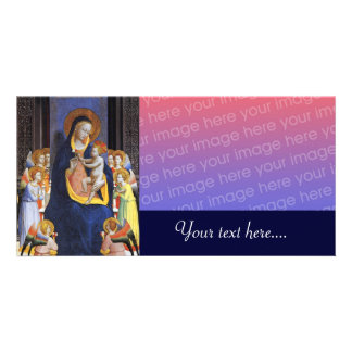 VIRGIN WITH CHILD AND SAINTS PHOTO GREETING CARD