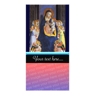 VIRGIN WITH CHILD AND SAINTS CUSTOM PHOTO CARD