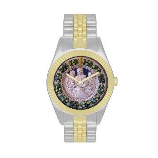 VIRGIN WITH CHILD AND SAINTS Round Wrist Watch