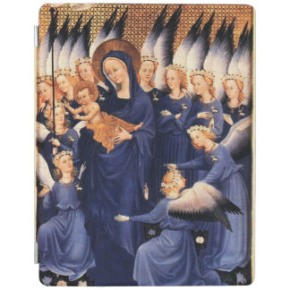 VIRGIN WITH CHILD,ANGELS, CHRISTMAS JOY PEACE LOVE iPad COVER