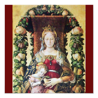 VIRGIN WITH CHILD red Card