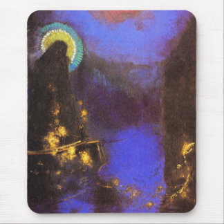 Virgin with Corona: Symbolist Painting by Redon Mouse Pad