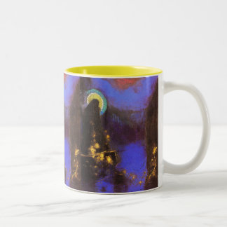 Virgin with Corona: Symbolist Painting by Redon Mug