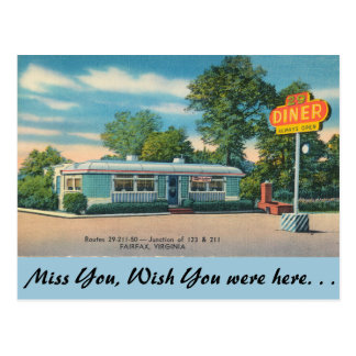 Virginia, 29 Diner, Fairfax Postcard