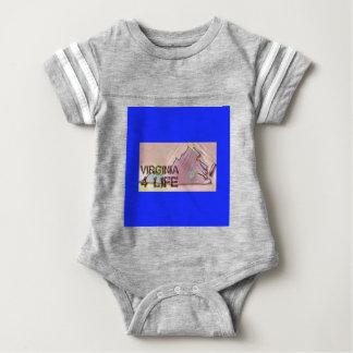 """Virginia 4 Life"" State Map Pride Design Baby Bodysuit"