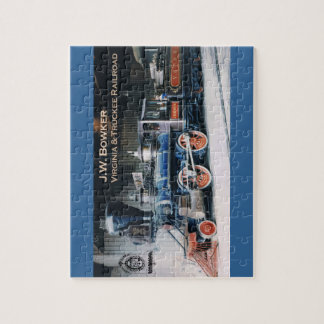 Virginia and Truckee Railroad engine Bowker puzzle