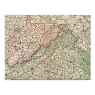 Virginia and West Virginia 2 Postcard