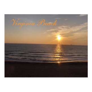 Virginia Beach at sunset Postcard
