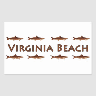 Virginia Beach Cobia Saltwater Fishing Logo Rectangular Sticker