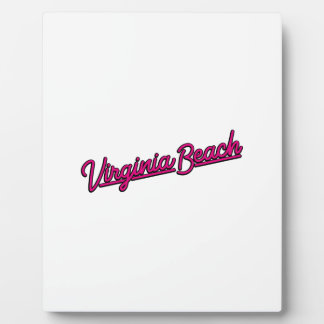 Virginia Beach neon sign in magenta Plaque