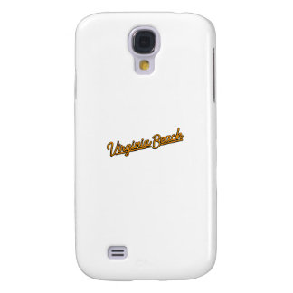 Virginia Beach neon sign in orange Galaxy S4 Cover