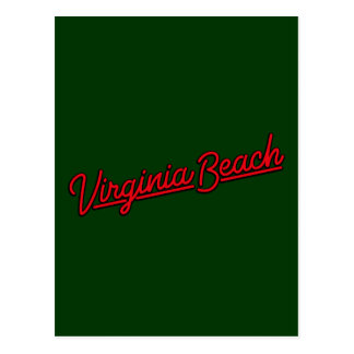 Virginia Beach neon sign in red Postcard