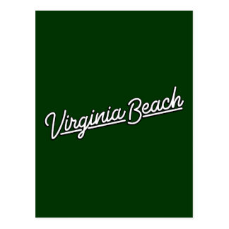 Virginia Beach neon sign in white Postcard