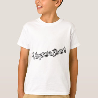 Virginia Beach neon sign in white T-Shirt