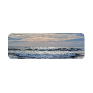 Virginia Beach Sunrise Return Address Label