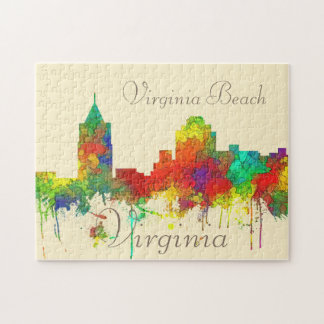 Virginia Beach Vi‏ginia Skyline SG Jigsaw Puzzle