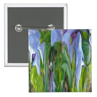 Virginia Bluebells Abstract 15 Cm Square Badge