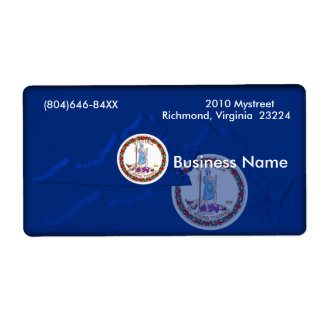 Virginia Business Label Shipping Label