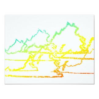 virginia chill blur 11 cm x 14 cm invitation card