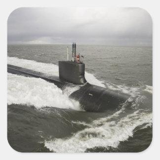 Virginia-class attack submarine square sticker
