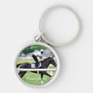 "Virginia Derby Winner ""War Dancer"" Silver-Colored Round Key Ring"