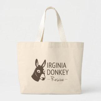 Virginia Donkey Rescue Logo Items Large Tote Bag