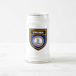 Virginia Flag Beer Stein