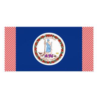 Virginia Flag Picture Card
