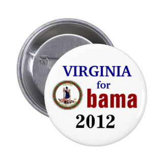 Virginia for Obama 2012 6 Cm Round Badge