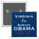 VIRGINIA For OBAMA 2012 Campaign Button