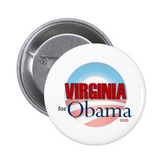 VIRGINIA for Obama 6 Cm Round Badge