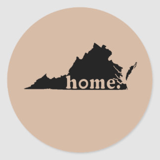 Virginia Home Classic Round Sticker