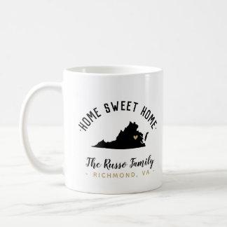 Virginia Home Sweet Home Family Monogram Mug