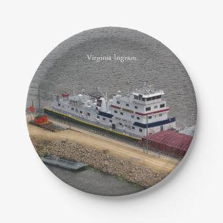 Virginia Ingram paper plate