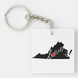 Virginia Love!  Gifts for VA Lovers Key Ring