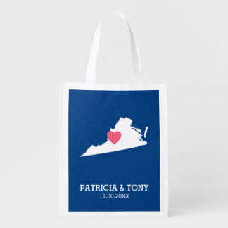Virginia Map Home State Love with Optional Heart