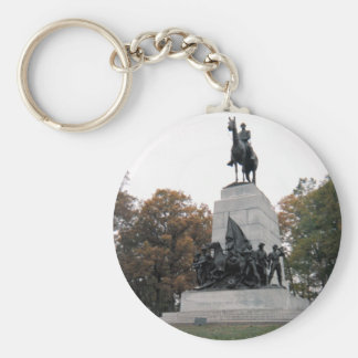 Virginia Memorial at Gettysburg NMP Basic Round Button Key Ring