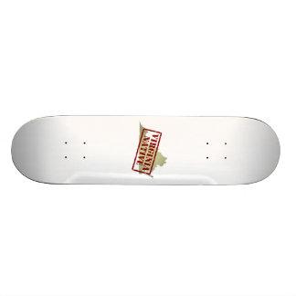 Virginia Native Stamped on Map Skate Board Deck