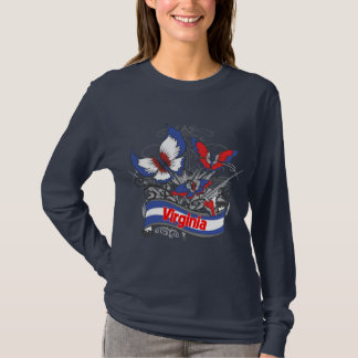 Virginia Patriotism Butterfly T-Shirt