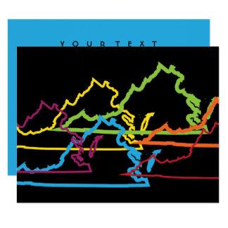 virginia pride blur 11 cm x 14 cm invitation card