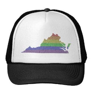 Virginia Rainbow Pride Flag Mosaic Cap