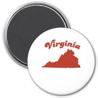 VIRGINIA Red State Refrigerator Magnet