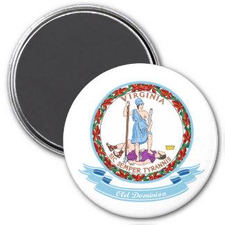 Virginia Seal 7.5 Cm Round Magnet