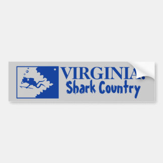 Virginia: Shark Country Bumper Sticker