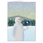 Virginia Snowman Greeting Card