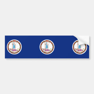 Virginia State Flag Design Bumper Sticker