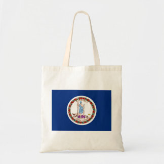 virginia state flag united america republic symbol budget tote bag