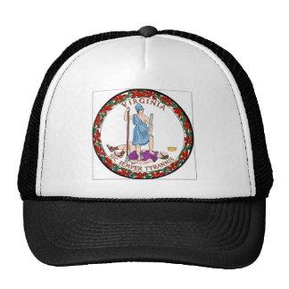 Virginia State Seal Mesh Hats