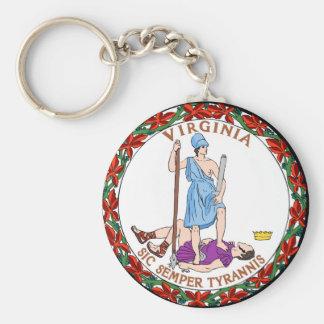 Virginia state seal.jpg basic round button key ring